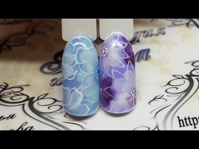 Nail art Flowers Дизайн ногтей Флористика Цветы на ногтях дизайн к 8 марта