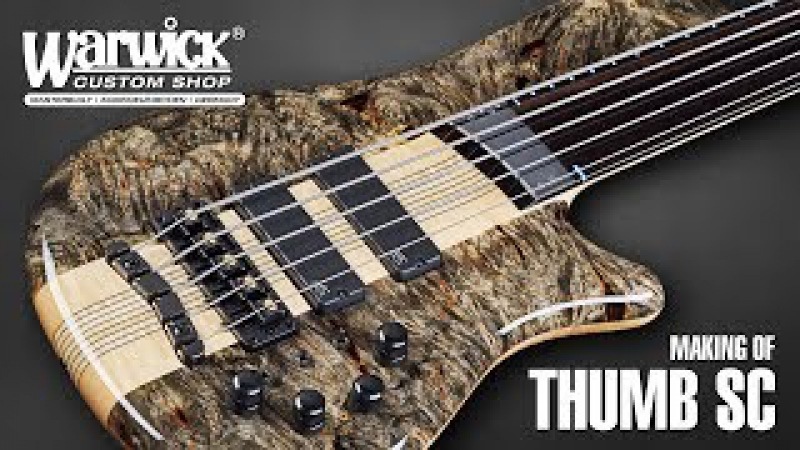 MAKING OF - Warwick Thumb SC Fretless 5-String - Piezo Bridge - Buckeye Burl Top 3288