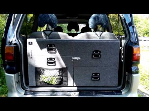 Mitsubishi Delica Space Gear custom made camping Boot Box - FOR SALE