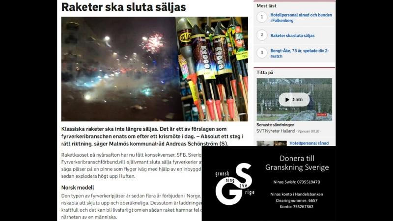 Sverige förbjuder nyårsraketer - SVT censurerar diskussion