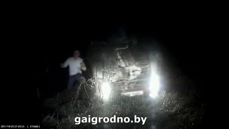 Под Гродно 17-летний бесправник, уходя от погони, разбил папин Hyundai