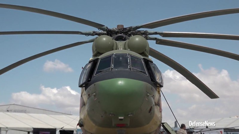 Mi-26T2 Helicopter of the Jordanian Air Force takes part in SOFEX-2018