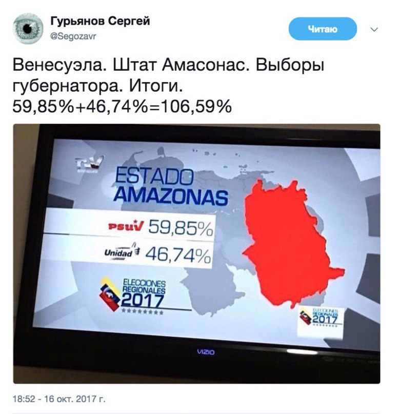 Неловко с Венесуэлой вышло %)
