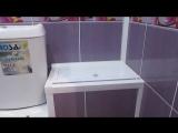 Ремонт ванной комнаты ПВХ панелями под ключ.
