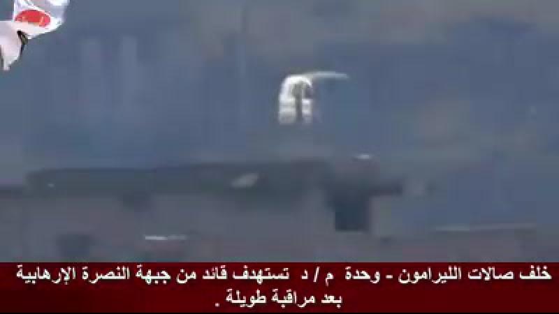 Сирия.Декабрь 2017.Алеппо. Пуск ПТУР по террористам бойцами бригады Аль-Кудс