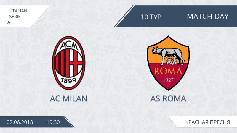 AFL18. Italy. Serie A. Day 10. AC Milan - AS Roma