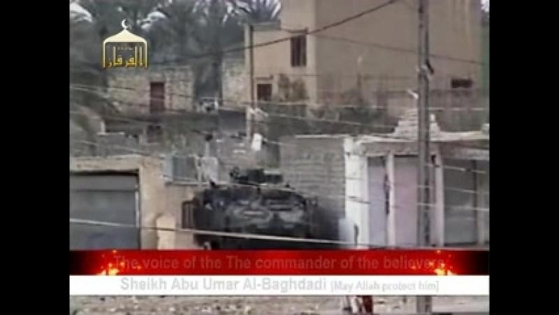 Ирак периода оккупации.Подрыв БТР Striker на СВУ