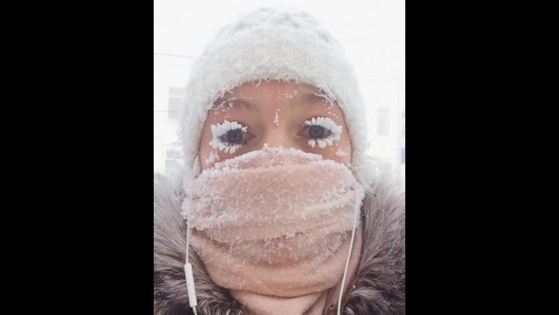 Якутия, -62 градуса, 2018 год январь