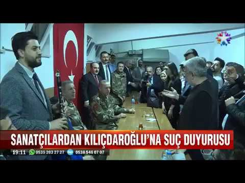 Hatay'a giden sanatçılar Kılıçdaroğlu hakkında suç duyurusunda bulundu