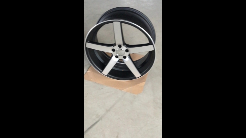 Vossen CV3 MATT BLACK FULL POLISH