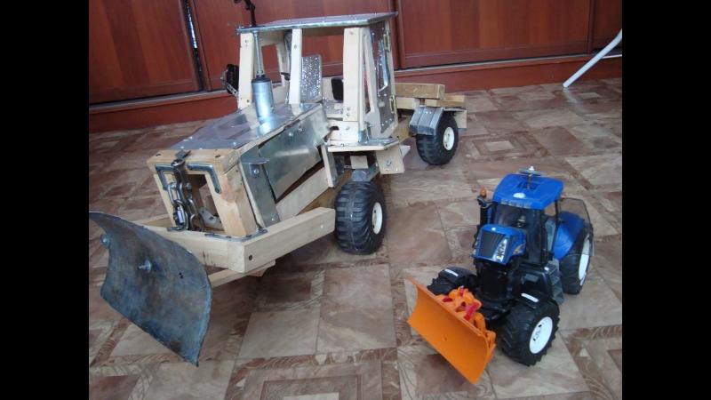 Сравнение тракторов Т 150 к и (Bruder) New Holland.Или обзор Т 150 к (1