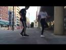 Парень и девушка танцуют шафлshuffle