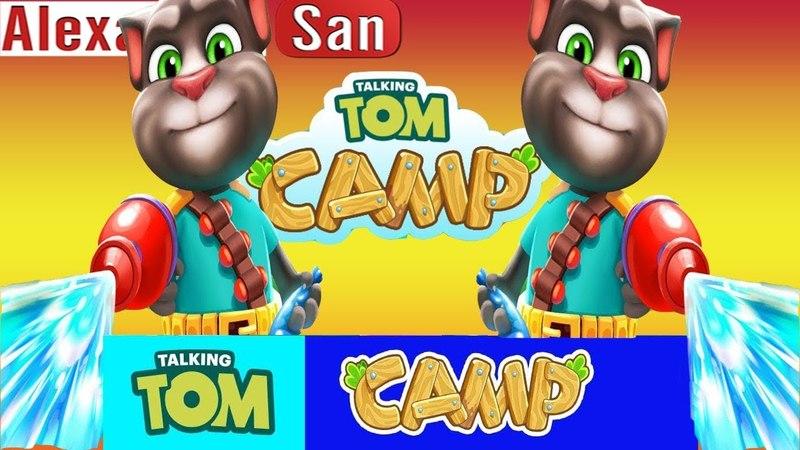 ГОВОРЯЩИЙ ТОМ ВОДНАЯ БИТВА 4 Том Анджела ДРУЗЬЯ Хэнк Лагерь Говорящего Тома Talking Tom Camp