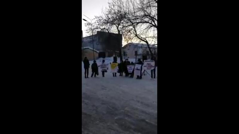 Пикет в Димитровграде против беспредела в ИК-5