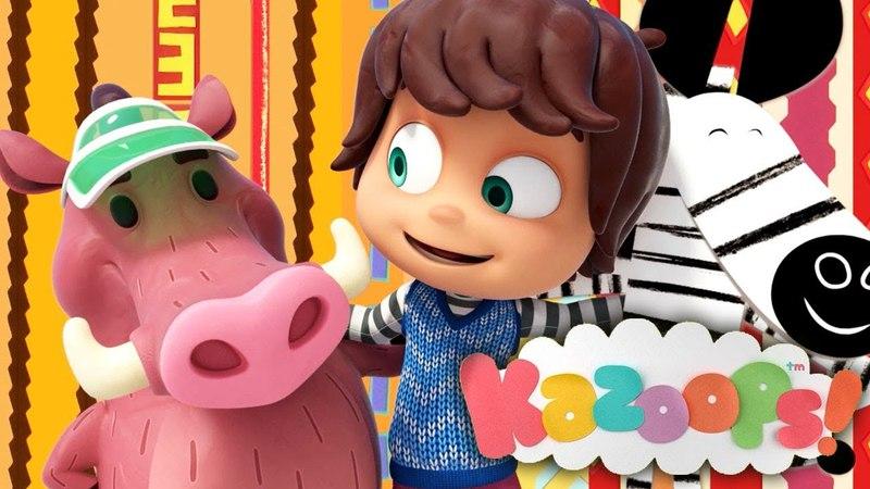 Kazoops! Español | En el lago | Amigos animales | Las Mejores Canciones Infantiles para Aprender