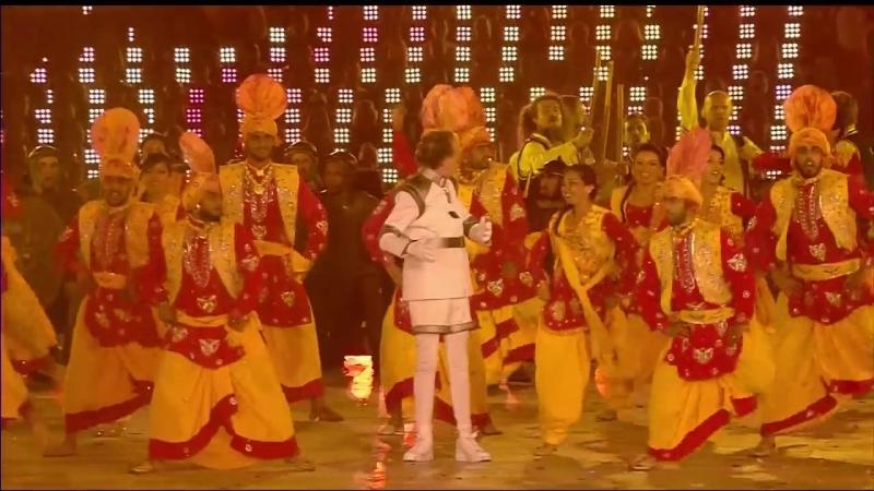 Меган Уильямс во время выступления Эрика Айдла на Закрытии Олимпийских игр в Лондоне,12 августа 2012