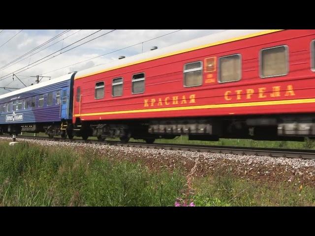 ЧС2т-988 с поездом «Черноморец» Санкт-Петербург — Новороссийск