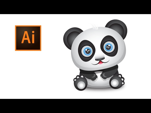 07 - Drawing a Panda in Adobe Illustrator CC