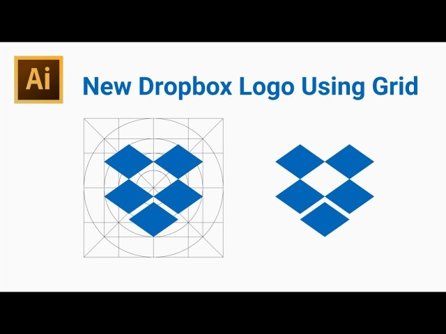 How to Draw the New Dropbox Logo Using Grid - Adobe Illustrator
