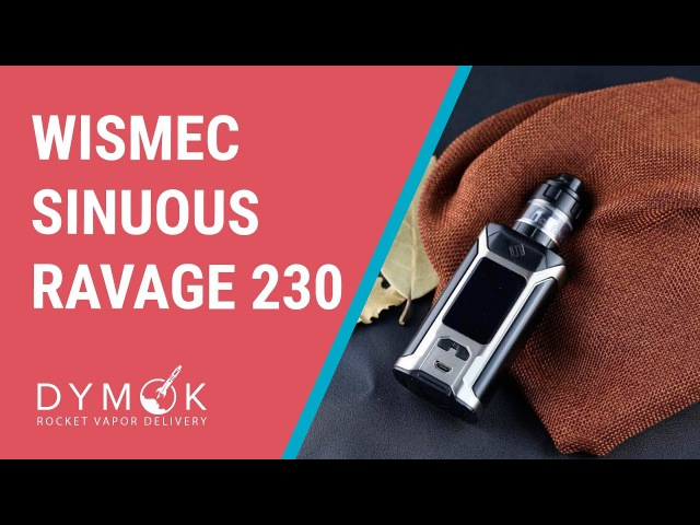Wismec SINUOUS RAVAGE230 обзор   Компактный, цветной