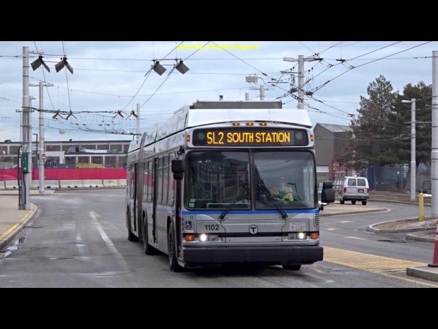 Silverline Trolleybus (or Bus?) in Boston, USA 2018