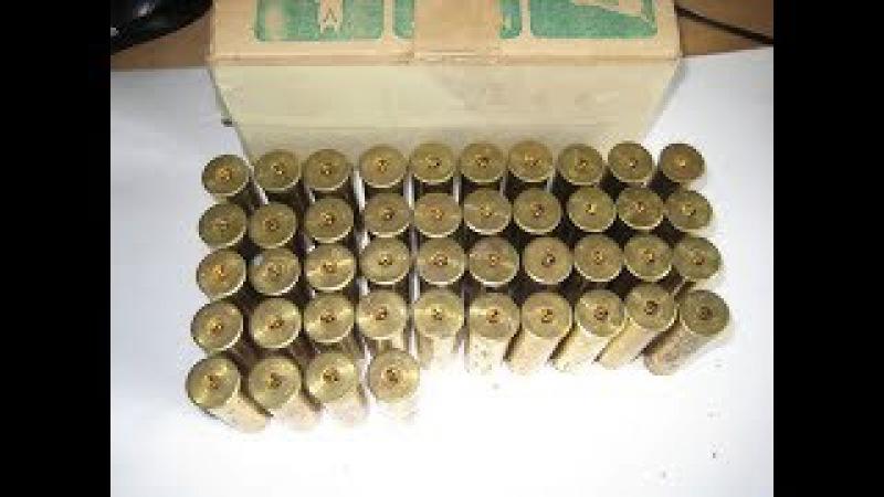 снаряжение патронов в латунную гильзу 12 кал.