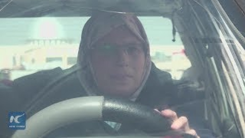 1st female taxi driver in Syria's Aleppo shows self reliance in times of hardship