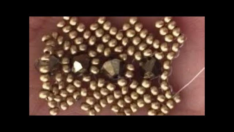 Herringbone flat Bracelet Herringbone hasır bileklik yapımı ( kenarları merdiven şekil )