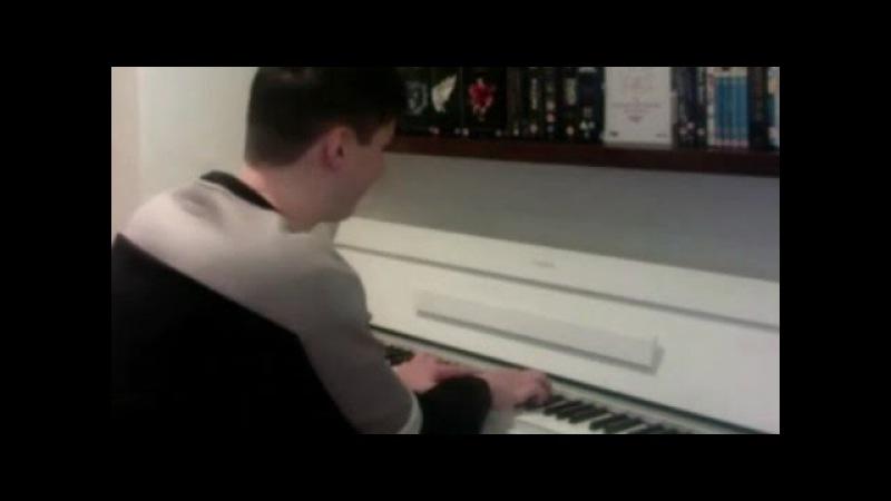 Dan playing yuri on ice music on piano