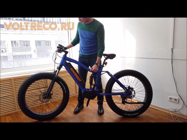 Электровелосипед Фэтбайк Hoverbot FB-3 Pro Fatbike двухподвес Обзор Voltreco.ru