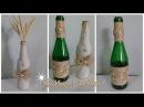 DIY - Garrafas Rustica | Reciclando e decorando garrafas de vidro!