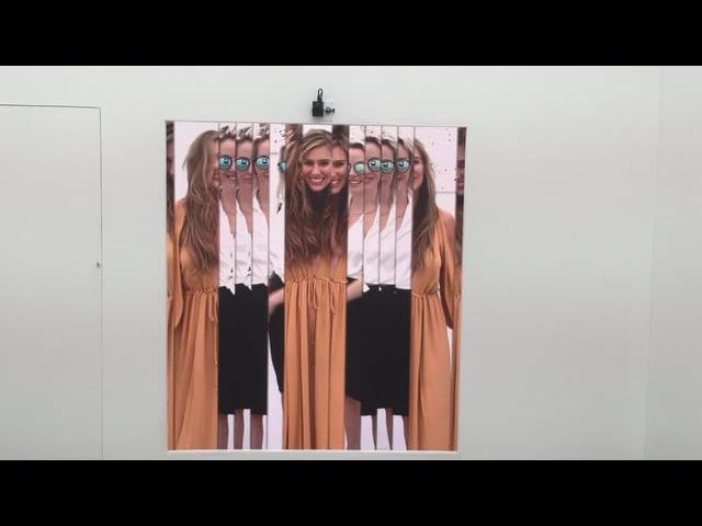 Rafael Lozano Hemmer Bilateral Time Slicer Installation at UNTITLED Art 2016