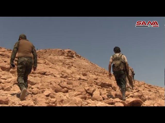 2 09 17 Осмотр освобождённой горной местности к северу от села Арак захваченные подземные укрытия и позиции боевиков Даиш