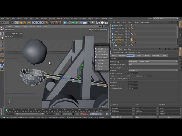 Tutorial: Create a Dynamic Catapult Animation in Cinema 4D: Part 1