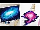 Рисование Акварелью Космоса и Галактики! 🌑Не оторвать глаз!