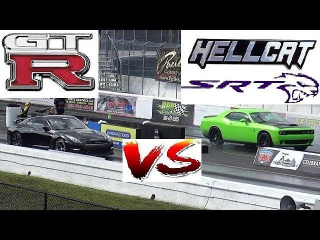 850 HP HELLCAT vs 800 HP GTR - Has Godzilla met his Match? - ROAD TEST®