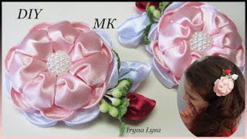 Заколочки С Цветком✿ Канзаши МК / DIY Kanzashi Flower