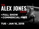 Alex Jones FULL SHOW Tuesday 1 16 18 James O'Keefe Twitter Adam Calhoun Raheem Kassam