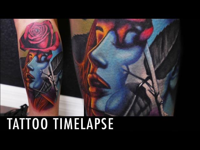 Tattoo Timelapse - Geoffery Shelter