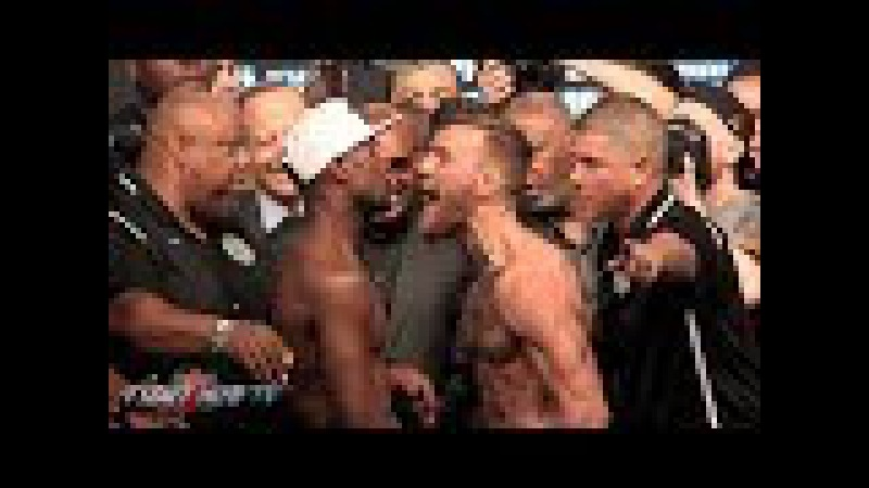 CRAZY FLOYD MAYWEATHER VS CONOR MCGREGOR FULL FACE OFF VIDEO