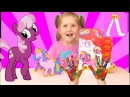 Изучаем цвета/ Развивающие занятия для детей/ 3D аппликация Пони/Видео для детей Kids Show Лапотуша