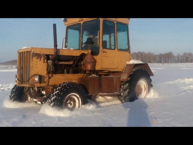 Дт-75 на колесах. Зима 2018 г.
