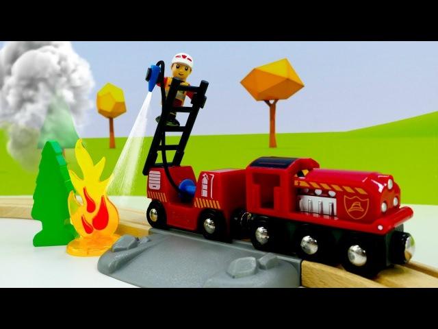 Vidéo de jouets en bois Brio. Déballage et construction d'une 🚂caserne de pompiers🚒