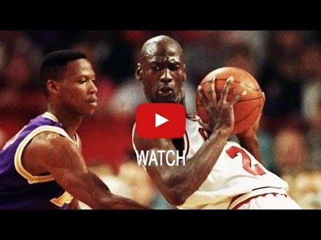 NBA Finals 1991. Chicago Bulls vs LA Lakers. Game 2. Jordan 33137, Pippen 20105. HD 720p