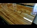 Стол из слэбов с эпоксидной смолой. Подробный мастер-класс. 2 часть