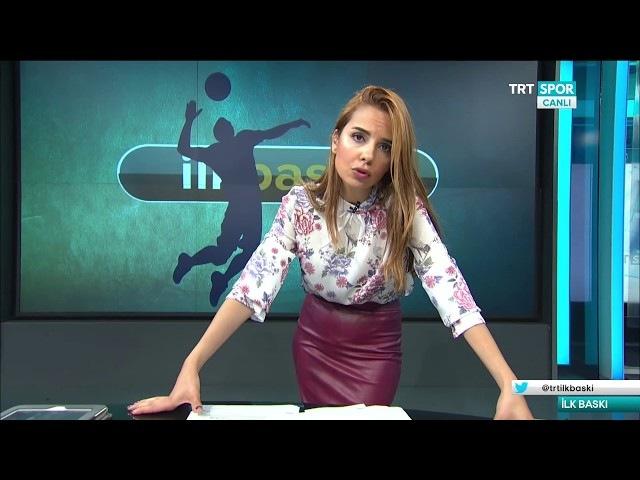 Deniz Satar in wine leather skirt | 08 06 2017