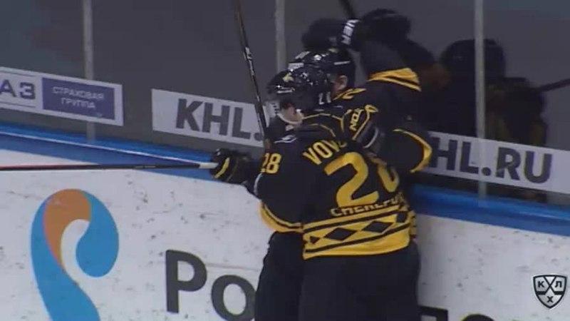 Моменты из матчей КХЛ сезона 17/18 • Гол. 1:1. Максим Трунёв (Северсталь) совершил индвидуальный проход 10.12