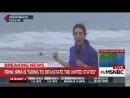 Wait is that somebody kitesurfing behind you Shock at idiotic kitesurfer hitting waves as Hurricane Irma slams into Miami  Londo