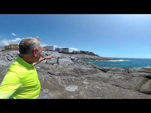 360 VR видео Тенерифе Живописный берег между Callao Salvaje и Playa Paraiso
