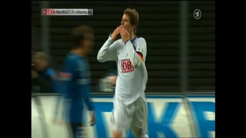 Arne Friedrich of Hertha BSC Berlin Bulging